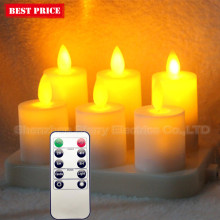 remote control led rechargeable tealight candle with dancing flame