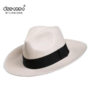 39668aaba3aa5 Hombre blanco sombrero de paja panamá venta al por mayor de China hombre sombreros  Panamá sombrero