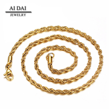 496aa922eaa2e 18k Gold Chain Necklace Designs Stainless Steel Mens Womens Necklace Twist  Rope Chain - Buy Gold Chain Necklace Designs,Necklace Twist Rope Chain,Mens  ...