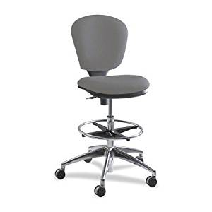 "Cushioned Office Stool/Chair in Gray Finish, Office/Home Furniture, Chrome and Cushioned Executive Stool/Chair, Office Products, Swivel Stool/Chair, Bundle with Expert Guide ""Quality in Our Life"""