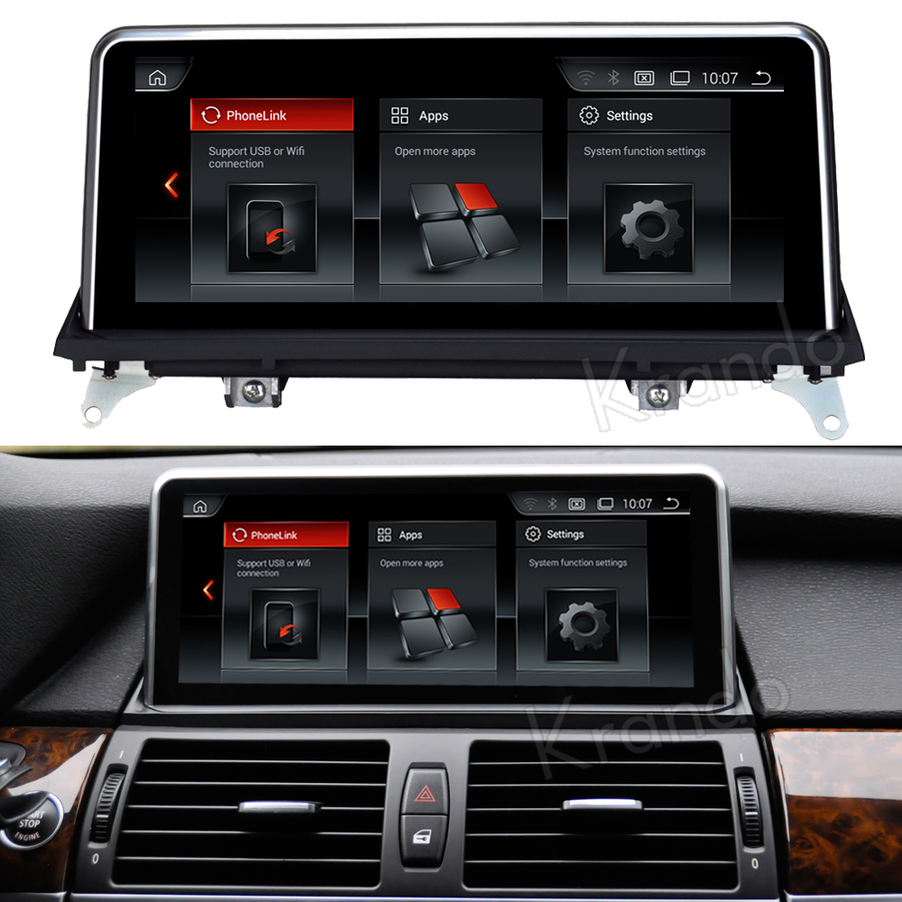 Krando 10.25'' android car radio multimedia for bmw X5 X6 E70 E71 Big screen navigation with gps system