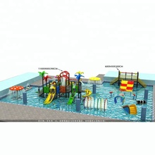 HOT Summer Mini Water Park Water Playground Water fiberglass Slide Aquatic Park Low price good quality For Sale