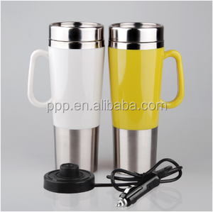 high quality 450ML stainless steel electric heated travel cup /electric mug warmer