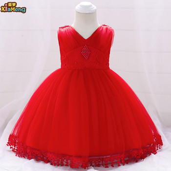 c7f97a2a6c80 2018 baby girl party dress kids flower children frocks designs red lace  girl dresses