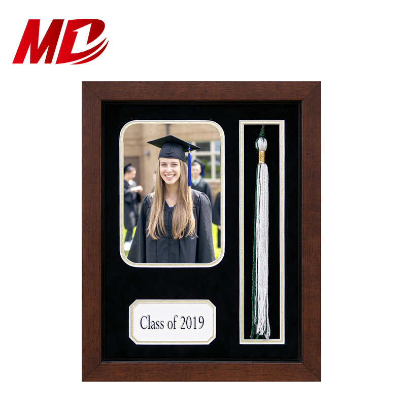 Wood or PS Matte Board Certificate Diploma Frames Photo With Tassel