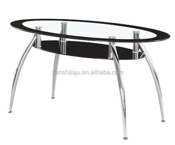 Modern Design Tempered Glass Top Stainless Steel Frame Dining Room Table