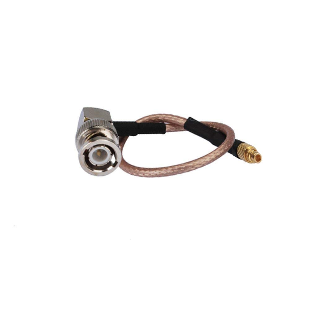 6 inch Rf Connector Bnc Plug Right Angle to Mmcx Male Straight Assembly Coaxial Cable Rg316 15cm for Wireless Antenna Ships From USA