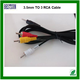 3.5mm 1.5M Male to 3 RCA Male Cable Video Audio AV Cable For Mini DV TV