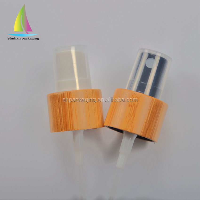 hot sale cosmetic <strong>spray</strong> 20mm bamboo wood packaging 20/410 plactic <strong>spray</strong>