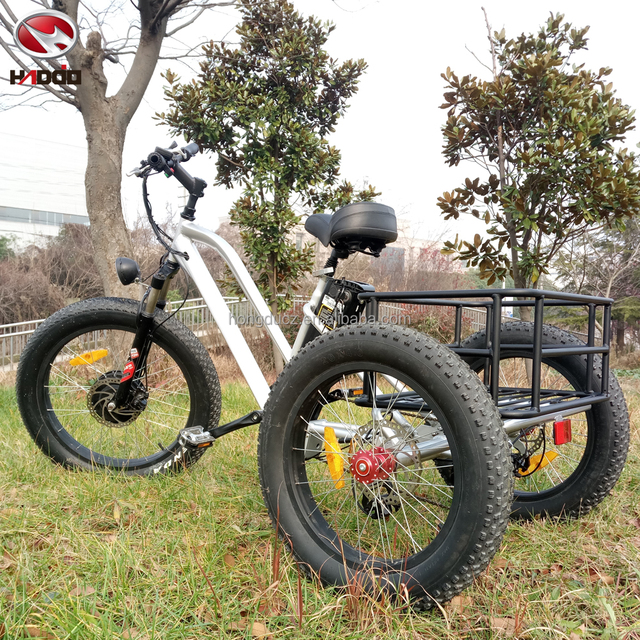 Hot sale cheap 500w fat tyre used electric tricycle for sale