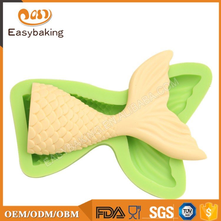 ES-0701L Large Fish Tail Silicone Molds Fondant Mould for cake decorating