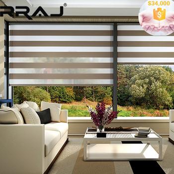 RRAJ Schlafzimmer Dekorative Rollos Zebra Streifen Stoff Rollos
