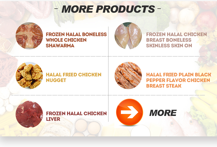 Remarkable quality frozen boneless chicken breast halal trimming