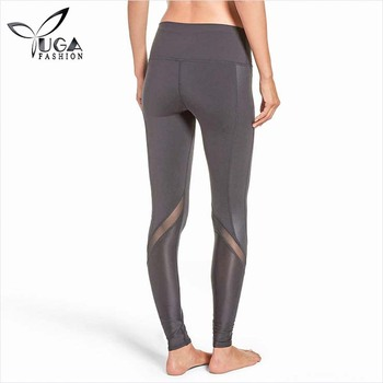 2018 High Quality Nylon Leather Gym Legging Yoga Pant Best Active Woman Wear