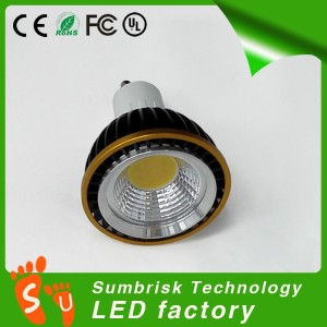 Hot sale LED COB GU10 spotlight 3w 6w 9w 2700k
