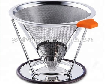 Oem Stainless Steel Coffee Filter With Stand Reusable Coffee Dripper