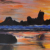 Reasonable Priced Impressionist Sunset Canvas Sea Hill Landscape Oil Paintings