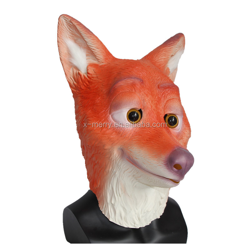 Halloween Animal Badger Head Mask Hot Sale Latex Carnival Costume Party Animal Fox Head Mask