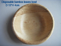 disposable round bamboo leaves bowl