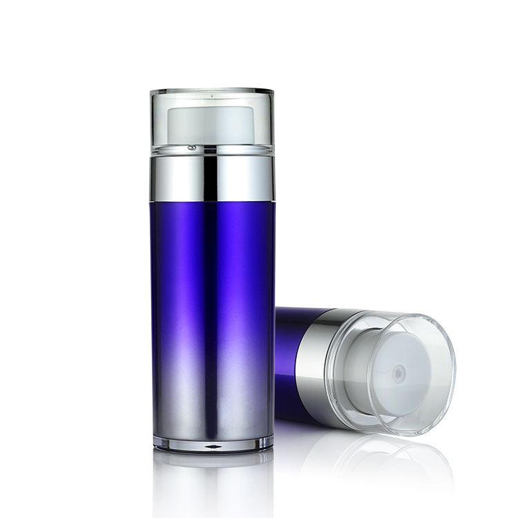 Best luxury blue color AS/MS aluminum airless bottle 30 ml cosmetic