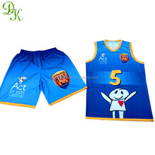 Custom sublimation printed cheap reversible basketball jersey