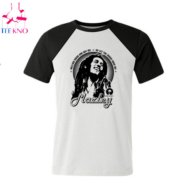 a8d0e8ebb85 Get Quotations · CASUAL MEN reggae bob marley t shirt new 2015 fahsion  design short sleeve t shirt bob