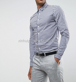 c4722153a92 China Factory Custom Fancy Simple Black and White Design Formal Dress Men s  Check Shirts