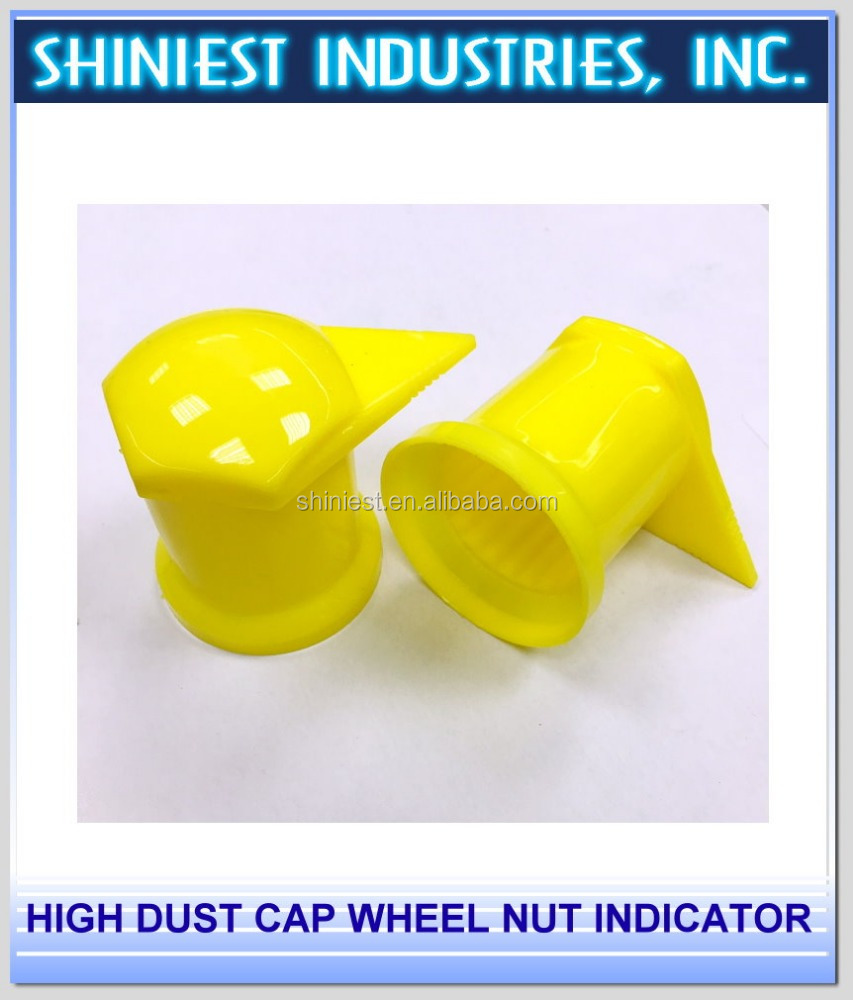Top selling high dust cap 32mm PP wheel nut indicator for trucks