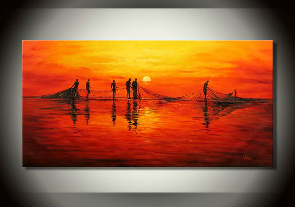 Easy Sunset Paintings For Kids