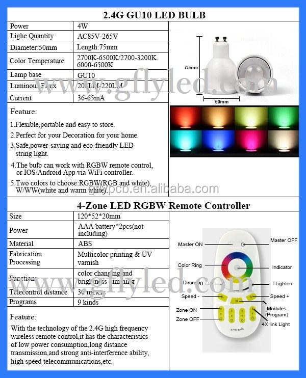 Dmx Rgb Led Spotlight Price Gu10 4w Wifi Control Light