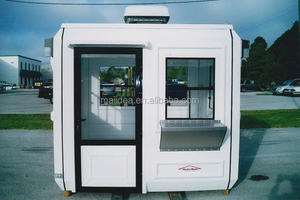 Durable & strong enough for outdoor design sentry box shed, toll booth, stainless steel booth with CE approved