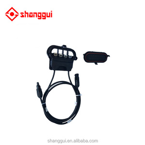 Accessories raw material of solar panels with cables MC4 connectors outdoor PV electrical combiner box potting