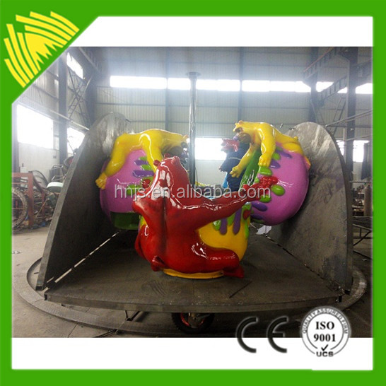 Portable Cup Rides Amusement Animal Bear Coffee Cup Rides With Trailer
