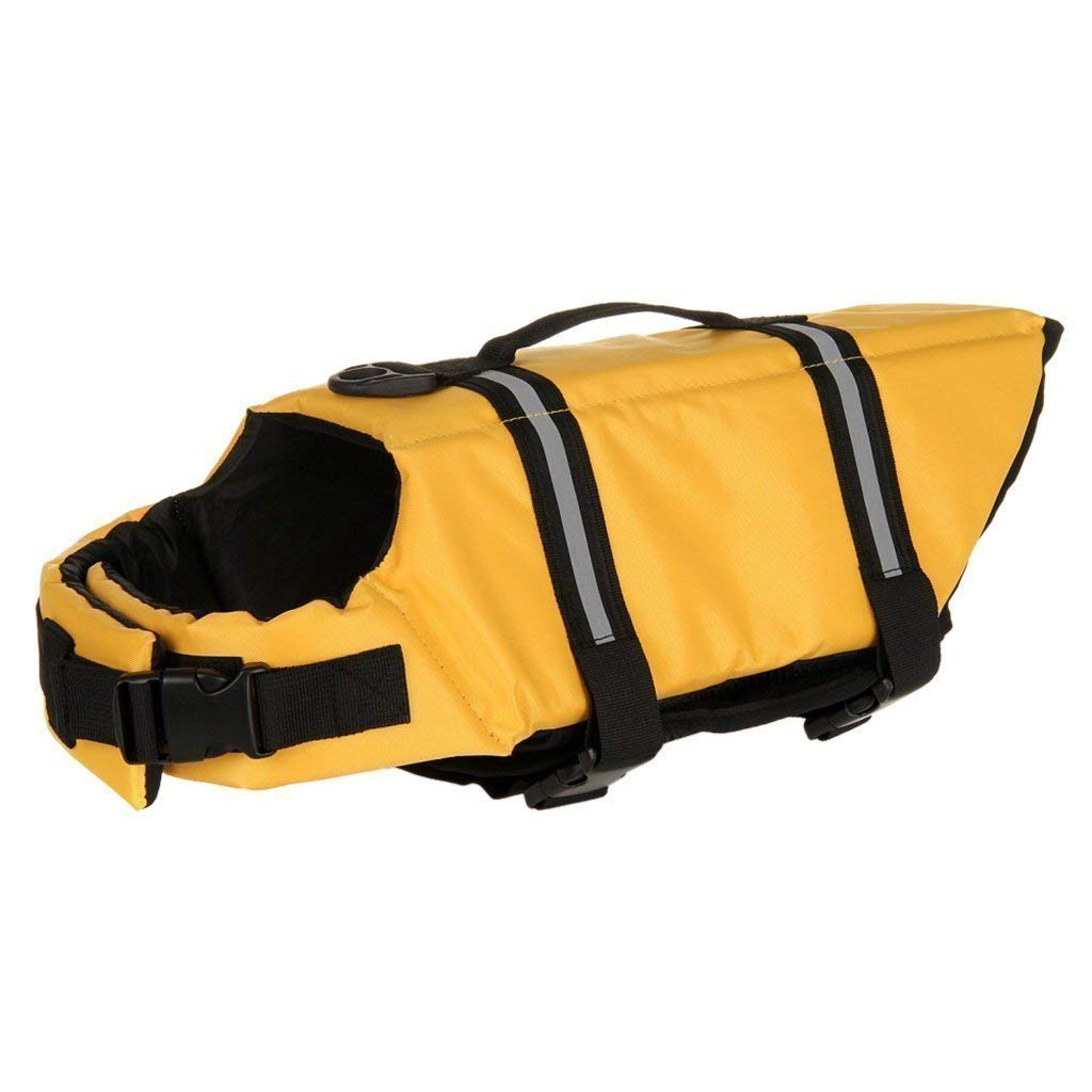 BARGAIN HOUSE Pet Swimwear Pet Swimsuit Pet Safty Jacket Pet Life Jackets Pet Swimming Vest fit for dogs and cats M Size yellow