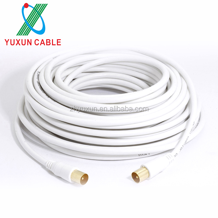 Standard RG6/4CFB/5CFB/3C2V coaxial cable TV Connector RG6 Coaxial TV cable