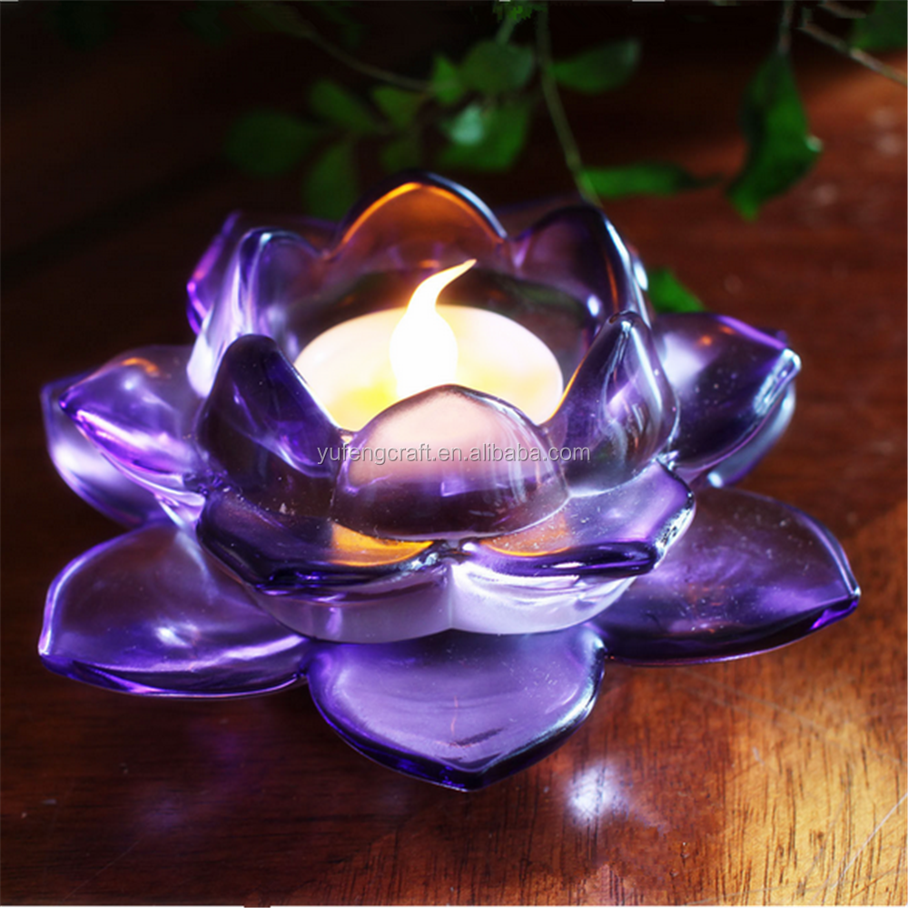 Popular Glass Crystal Lotus Flower For Candle Stand Buy Popular