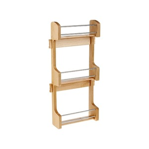 3 layers wooden storage shelf kitchen Spice Rack storage standing rack