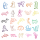 Metal Material and Yes Shaped Paper Clip wire paper clip animal paper clip