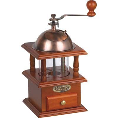 small order double-deck wooden coffee grinder