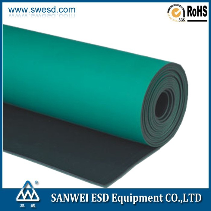 2015 Esd Material Table Mat Conveyor Belt Table Mat