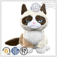 Plush toy cat lifelike rabbit fur cat toy