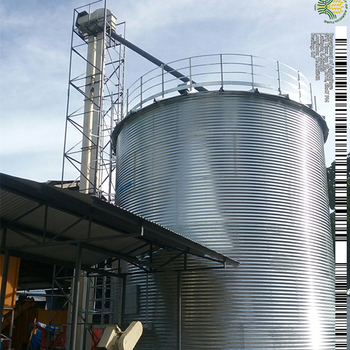 Professional make design flat bottom corn storage steel silo