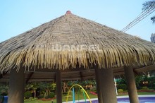 Wanael Cheap Anti-Uv Plastic PE Artificial Thatch Roofing For Cottage, Straw Roof