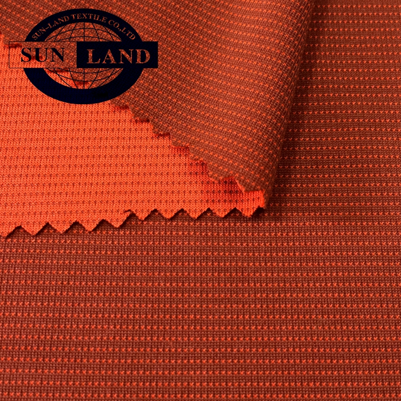 100 polyester dry fit & anti-bacterial knitted eyelet mesh fabric for underwear