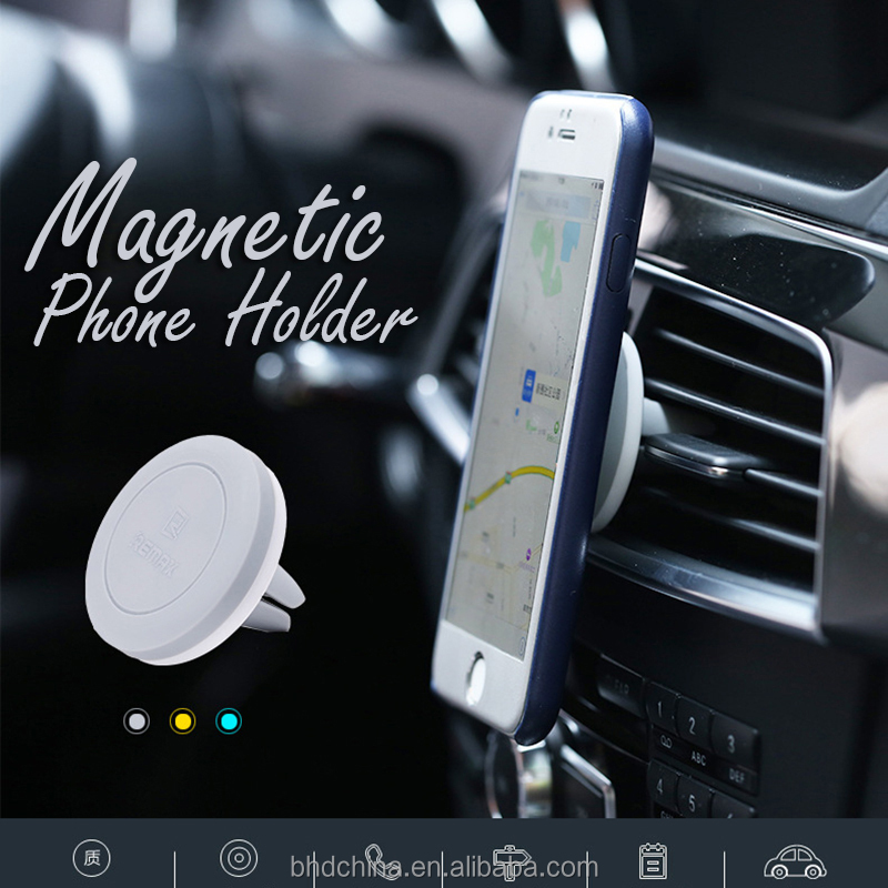 BHD NEW Air Vent Holder Magnetic Phone Holder Round Auto Magnet Car Mount Support for Mobile Smartphone GSP Stand Bracket