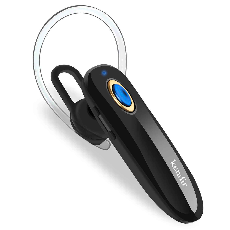 ebcb0d383dd Get Quotations · Bluetooth Headset, Kendir Wireless Bluetooth V4.2 Earpiece  Noise Cancelling Headphones Lightweight Hands-