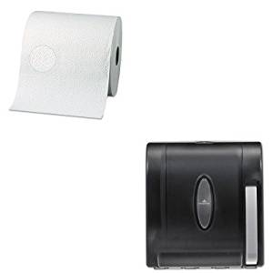KITGEP28000GEP54338 - Value Kit - Georgia Pacific Two-Ply Nonperforated Paper Towel Rolls (GEP28000) and Georgia-Pacific Vista 54338 Black Hygienic Push Paddle Roll Paper Towel Dispenser (GEP54338)