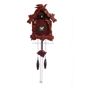 home decoration animal wall clock wooden cuckoo with music sound