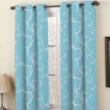 eyelet 100% polyester embroidery fabric curtain