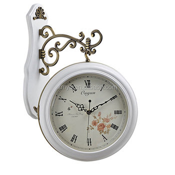 Large Decorative Wall Clocks Hanging Double Sided Wall Clocks For